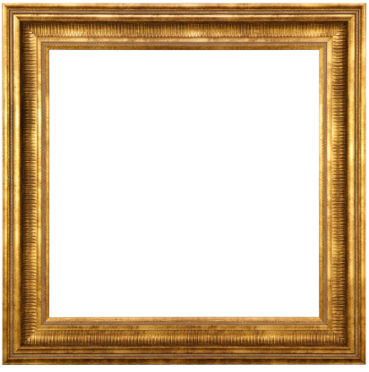 Classic Gold Picture Frame With Clipping Path 171574495