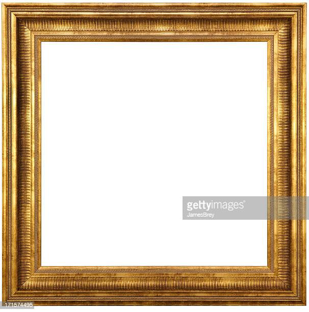 classic gold picture frame with clipping path - frame stock pictures, royalty-free photos & images