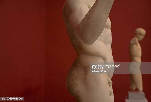 Classic Greek statues, mid section