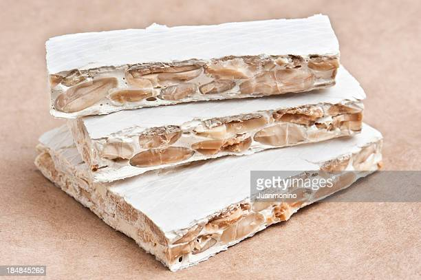 classic hard spanish turron - alicante stock pictures, royalty-free photos & images