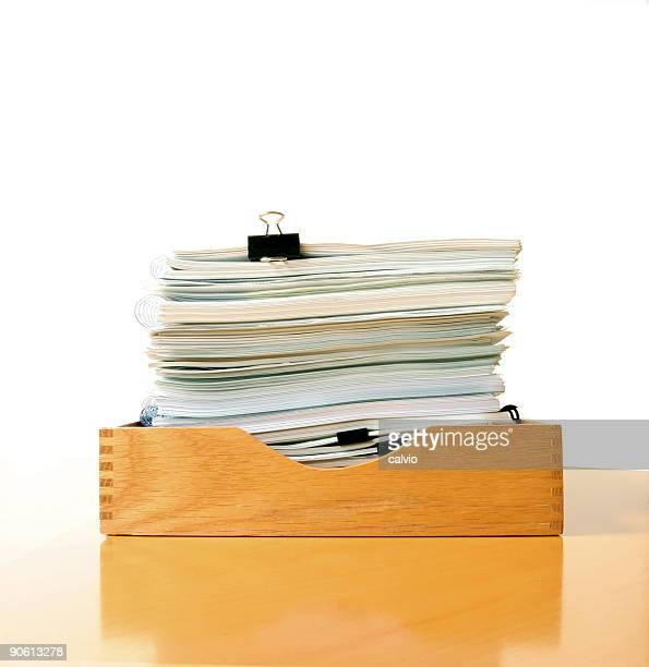 classic inbox - outbox filing tray stock pictures, royalty-free photos & images