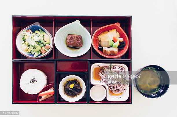 Classic Japanese combination Bento with miso soup