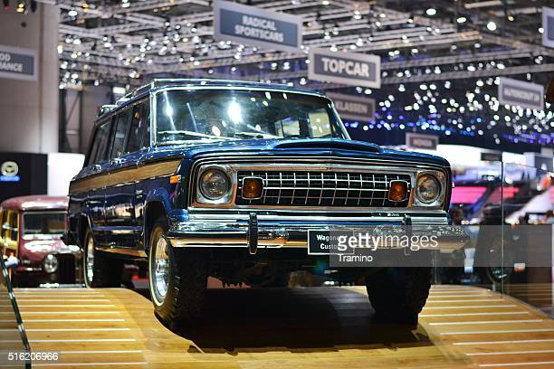 Classic Jeep Wagoneer on the motor show