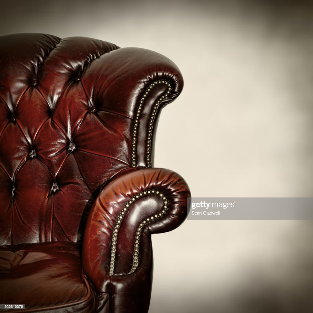 Classic leather armchair : Stock Photo
