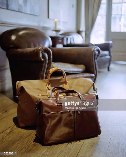 Klassische Leder-Gepäck in die Hotel-Empfang