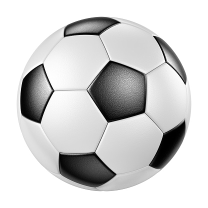 Classic leather soccer ball isolated on white background 1147979646