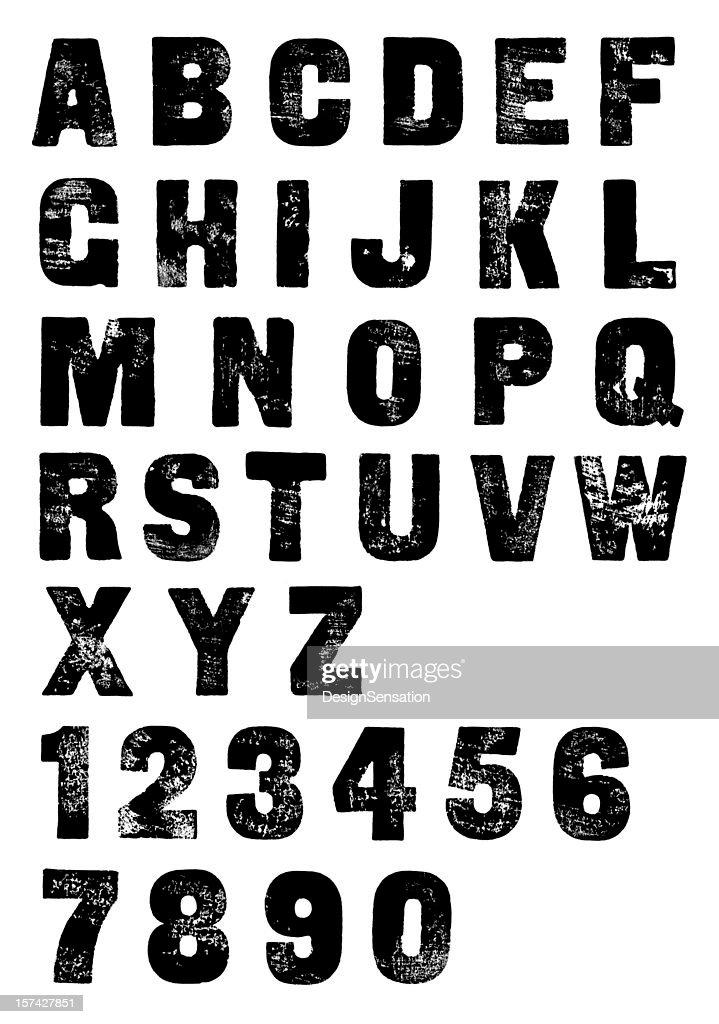 Classic Letterpress Poster Font