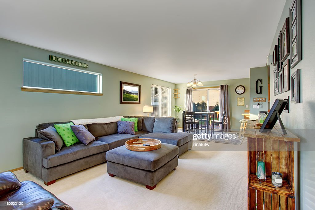 Classic living room with carpet. : Stockfoto