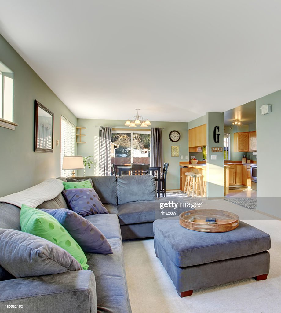 Classic living room with carpet. : Stock Photo