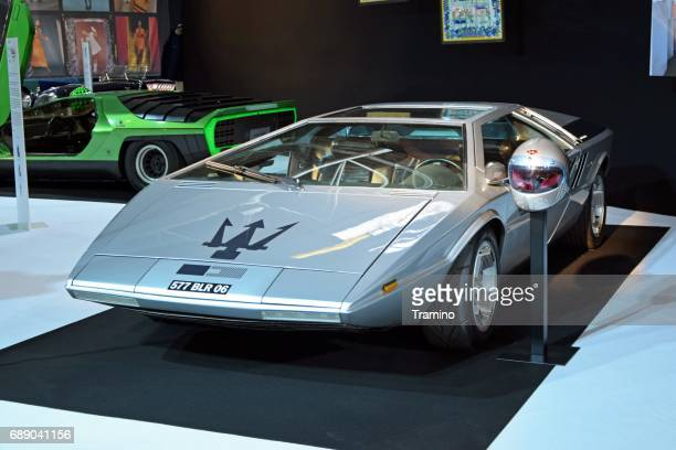classic maserati boomerang concept on the motor show - maserati stock photos and pictures