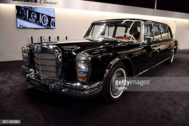 Classic Mercedes-Benz Pullman on the motor show