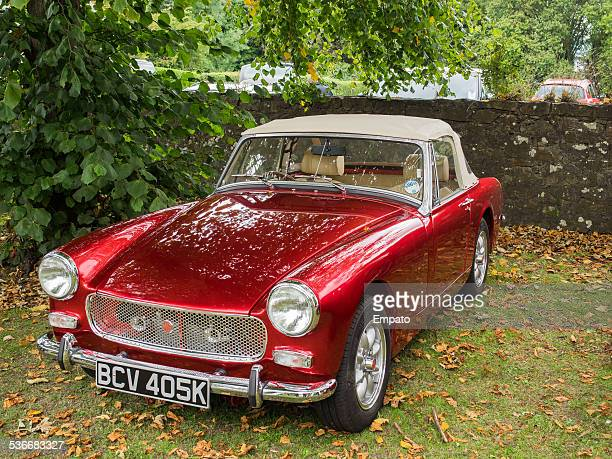 classic mg midget - midget stock pictures, royalty-free photos & images