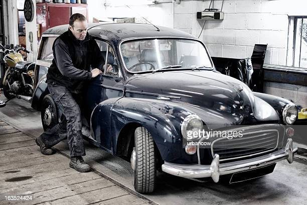Classic Morris Minor Traveller repair
