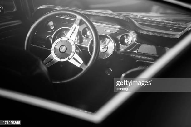 mustang interior clásico - ford mustang fotografías e imágenes de stock