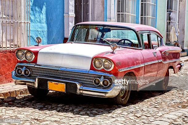 Classic old car in Trinidad