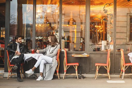 A classic Parisian cafe 869707308
