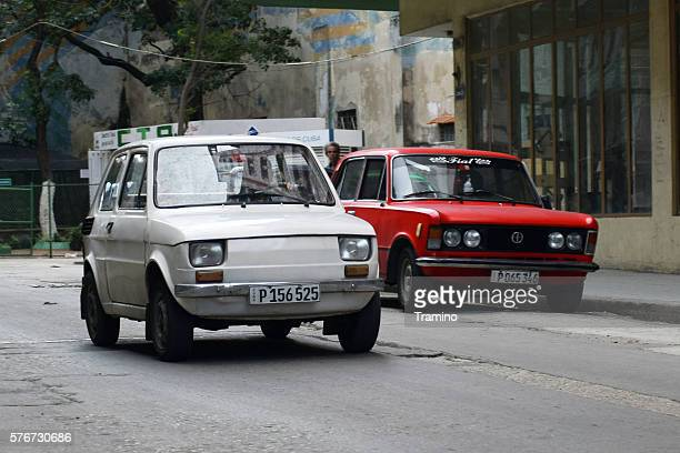 Classic Polish cars on the Havana street