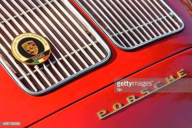 classic porsche 356 grille - porsche stock pictures, royalty-free photos & images