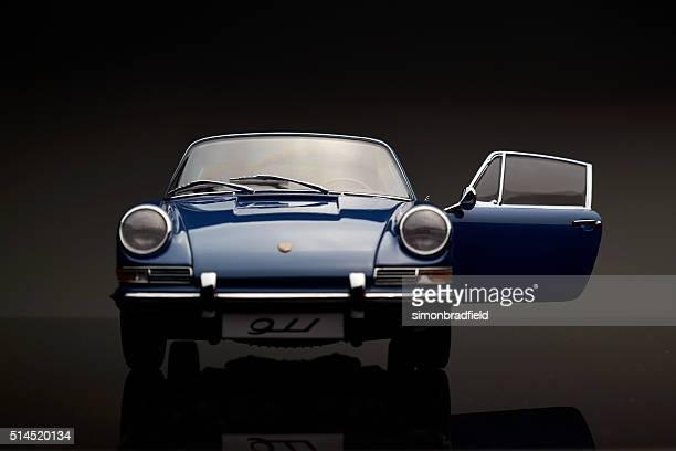 classic porsche 911 model front view - porsche stock pictures, royalty-free photos & images