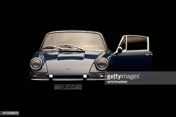 Classic Porsche 911 Model On Black