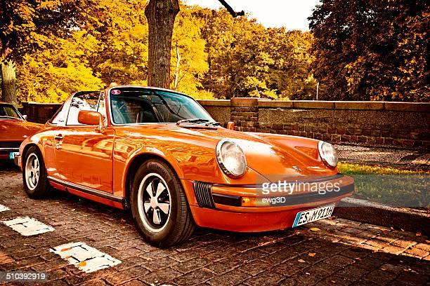 classic porsche 911 targa - porsche stock pictures, royalty-free photos & images