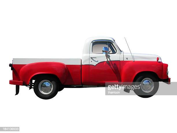 Classic Red and White Truck