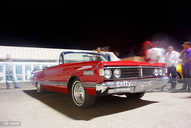 classic red convertible - car show stock pictures, royalty-free photos & images