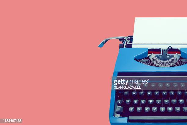 classic retro typewriter - retro style stock pictures, royalty-free photos & images