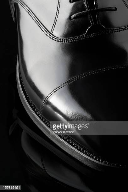 classic shoe - oxford - black shoe stock photos and pictures
