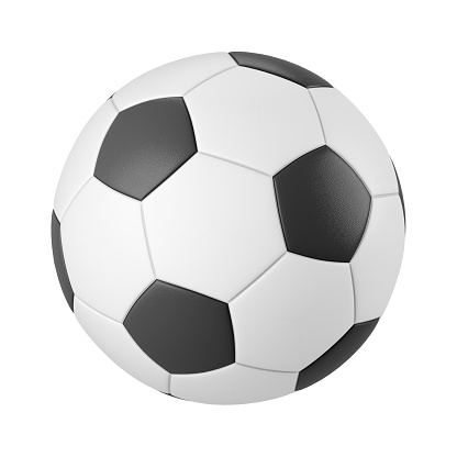 Classic soccer ball isolated on white background 3d render 1137996375