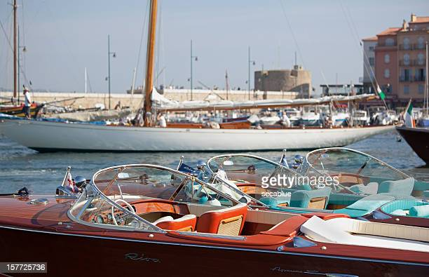 Classic sports boats and yacht