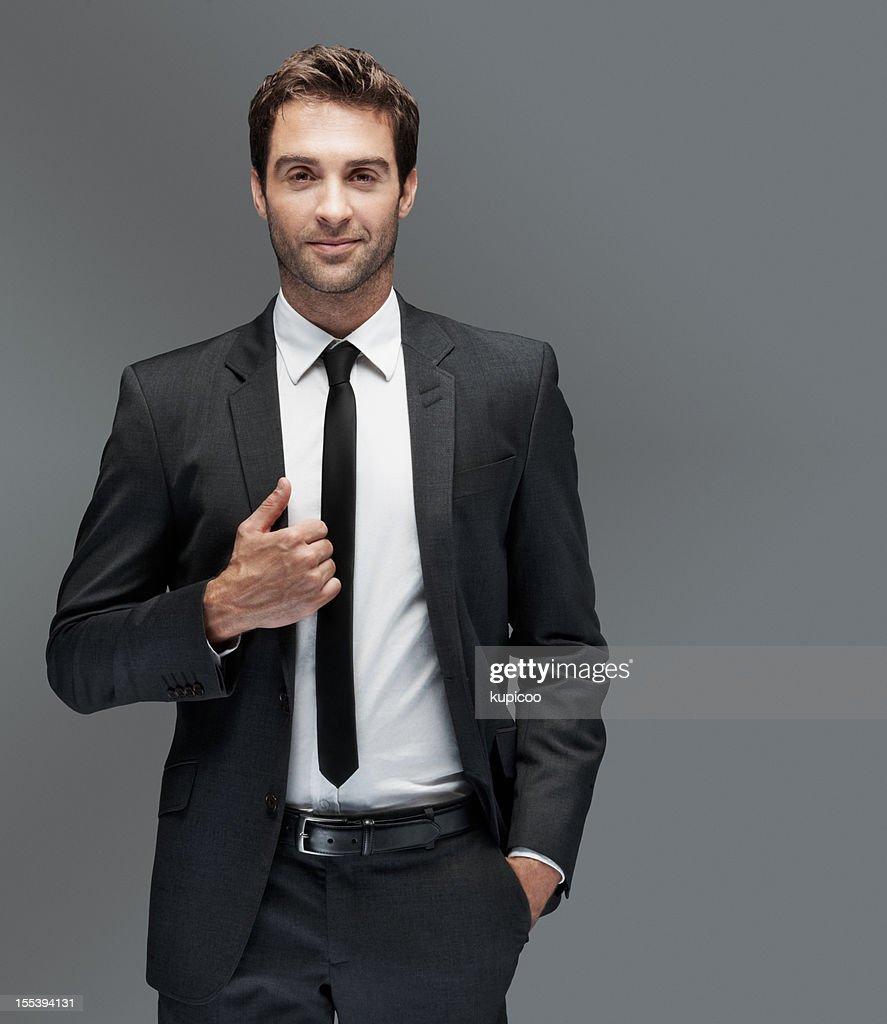 Klassische Eleganz für den Mann von Welt : Stock-Foto
