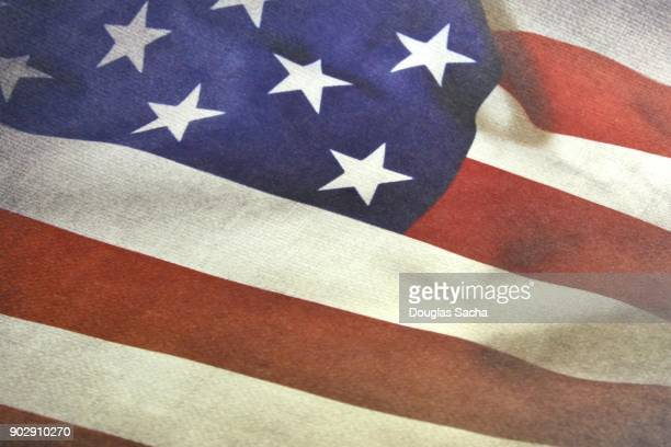 classic styled usa flag - military flags stock photos and pictures