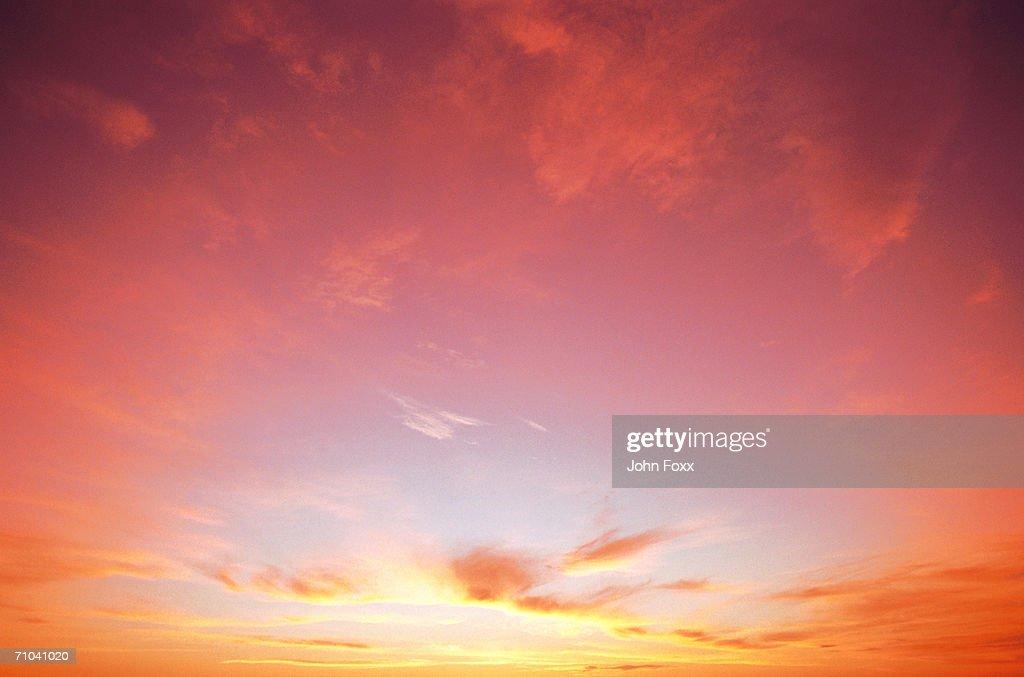 classic sunset : Bildbanksbilder