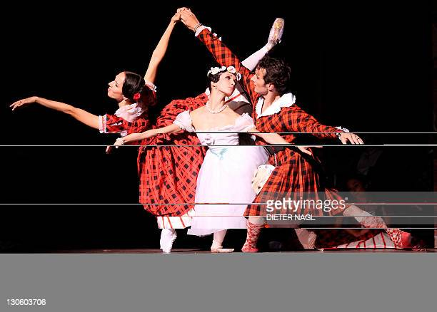 Classic 'Sylphide' and a new star at Vienna Ballet Roman Lazik Irina Tsymbal and Nina Poláková of the Vienna state ballet perform in the general...
