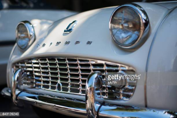classic triumph sports car - triumph motorcycle stock pictures, royalty-free photos & images
