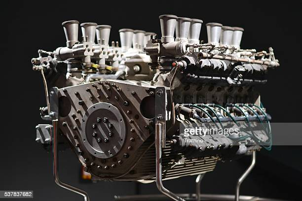 Classic V12 engine from racing car