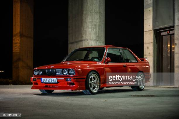 bmw m3 classic versus new model - bmw stock pictures, royalty-free photos & images