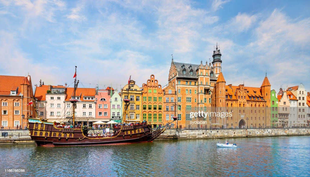 A classic view of the old city of Gdansk : Stock Photo