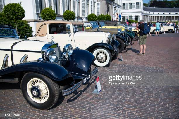 Classic vintage prewar cars on display at the 2019 Concours d'Elegance at palace Soestdijk on August 25 2019 in Baarn Netherlands This is the first...