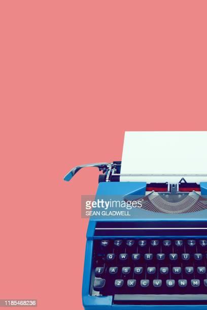 classic vintage typewriter - typewriter stock pictures, royalty-free photos & images
