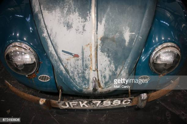 Classic Volkswagen Beetle is pictured on the first day of the Lancaster Classic Motor Show at the NEC Birmingham on November 10, 2017 in Birmingham,...