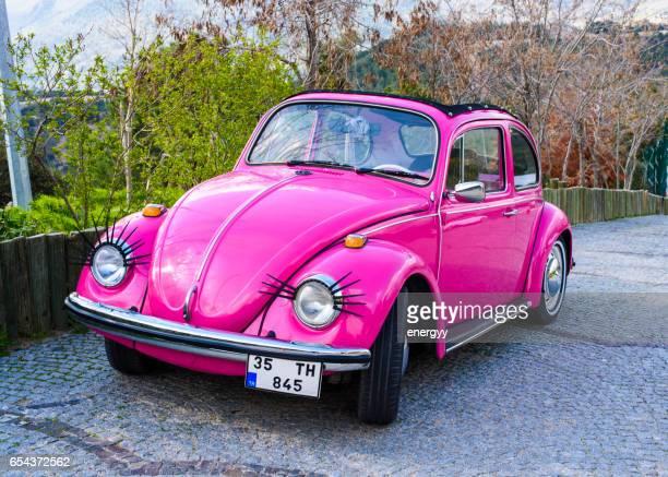 classic volkswagen beetle - volkswagen beetle stock photos and pictures