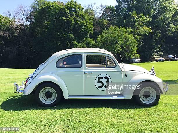 classic volkswagen beetle racing car - grand prix motor racing stock pictures, royalty-free photos & images