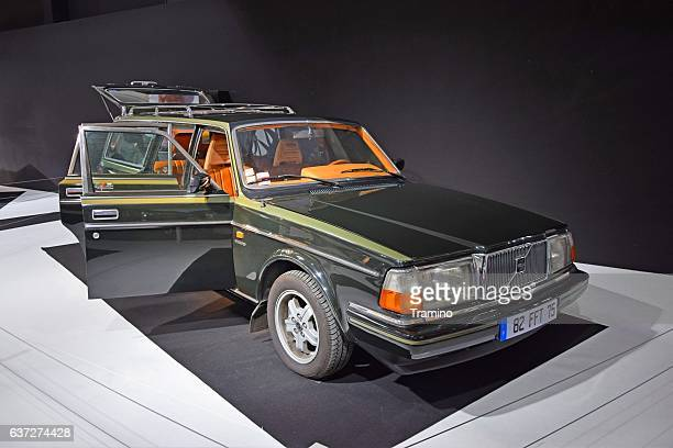 classic volvo 240 - volvo stock pictures, royalty-free photos & images