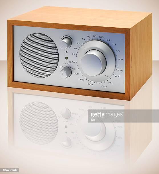 Classic wooden radio