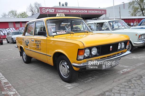 Classic yellow taxi for tourists