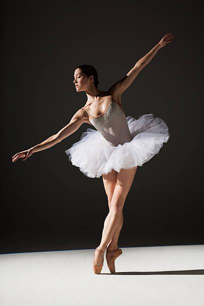 classical ballerina on point