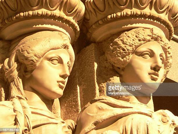 classical beauty - geometrical architecture stock photos and pictures