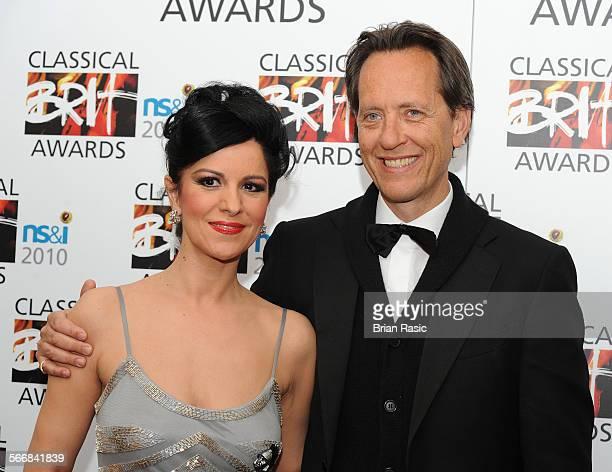 Classical Brit Awards 2010 At Royal Albert Hall London Britain 13 May 2010 Angela Gheorghiu And Richard E Grant